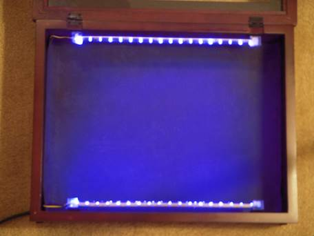 Using uv led strips to build a long wave fluorescent mineral display uvled 068 aloadofball Images